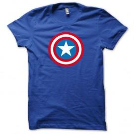 Shirt Capt America bleu royal pour homme et femme
