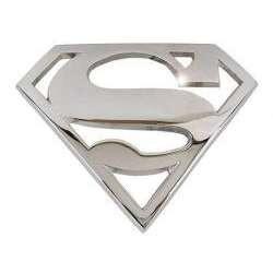 Boucle de ceinture superman acier chrome