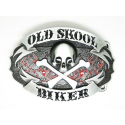 Boucle de ceinture biker old skool acier chrome