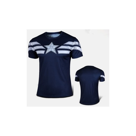 Tee shirt superman moulant à compression bleu royal