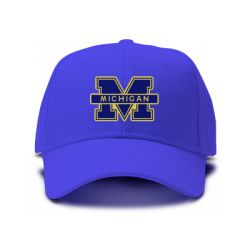 casquette university michigan brod'e de couleur bleu royal