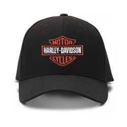 casquette harley davidson cicles brod'e de couleur noire