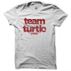 Shirt serie entouarge turtle team blanc pour homme et femme