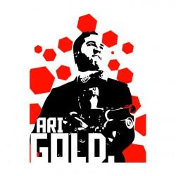 Shirt entouarge ari gold blanc pour homme et femme