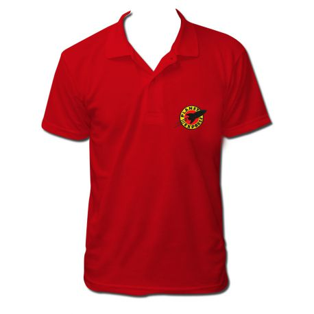 Polo planet express nouveau couleur rouge