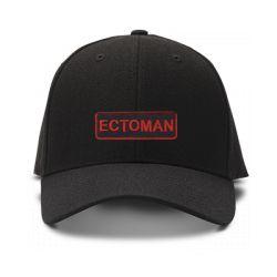 casquette ectoman ghostbuster brodee de couleur noire