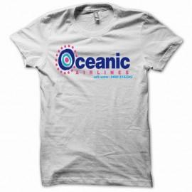 Shirt Oceanic airlines compagnie aerienne Lost Les Disparus blanc pour homme et femme