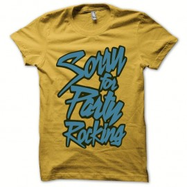 Shirt LMFAO Party Rock Anthem every day i m shufflin jaune pour homme et femme