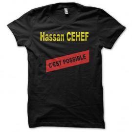 Shirt Les Nuls Hassan Cehef noir pour homme et femme