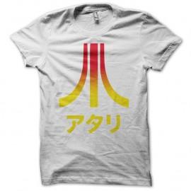 Shirt Atari Japon dégradé quadrichromie blanc pour homme et femme