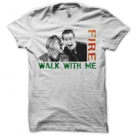 Shirt Twin Peaks Fire walk with me Bob & Cooper blanc pour homme et femme