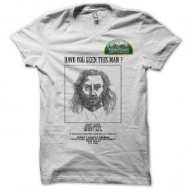 Shirt Twin Peaks wanted Bob blanc pour homme et femme