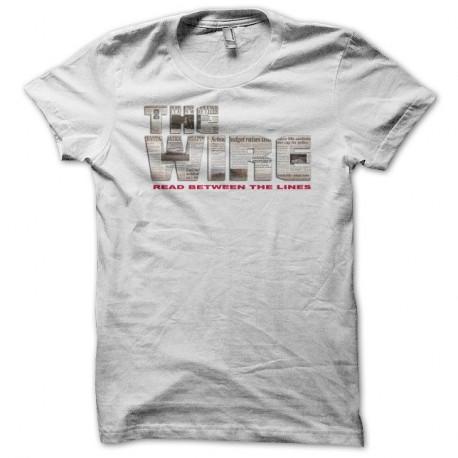 Shirt The Wire logo newspaper blanc pour homme et femme