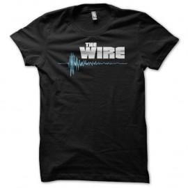 Shirt The Wire logo blanc/bleu sur noir pour homme et femme