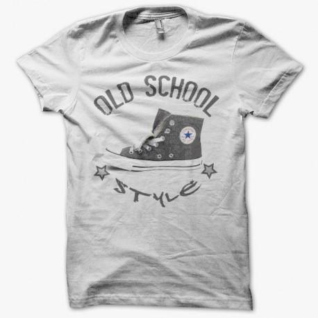 T shirt Converse All Star old school style gris parodie sur blanc