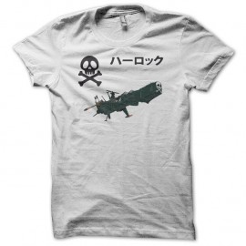Shirt manga Arcadia blanc pour homme et femme