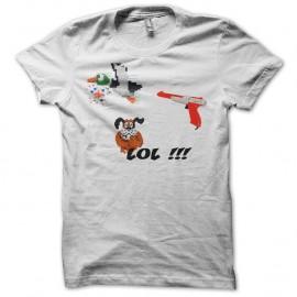 Shirt Duck Hunt blanc pour homme et femme