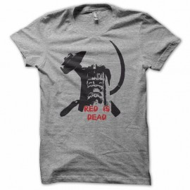 Shirt la cité de la peur red is dead gris pour homme et femme