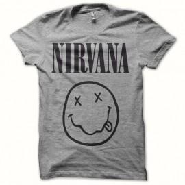Shirt Nirvana gris pour homme et femme