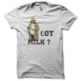 The Big Lebowski version got milk sur Shirt blanc pour homme et femme