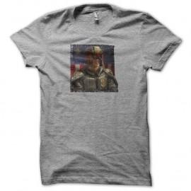 Shirt Judge Dredd gris pour homme et femme