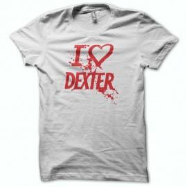 Shirt love DEXTER rouge/blanc pour homme et femme