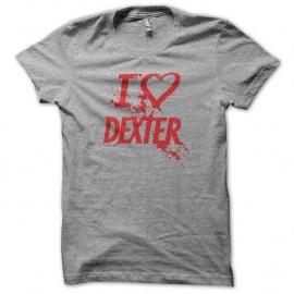 Shirt love DEXTER rouge/gris pour homme et femme
