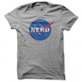 Shirt nerd parodie nasa noir/gris pour homme et femme
