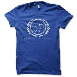 Shirt Star Trek United Federation of Planets bleu royal pour homme et femme