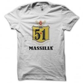 Shirt humour Bavaria 8.6 parodie Massilia 5.1 blanc pour homme et femme