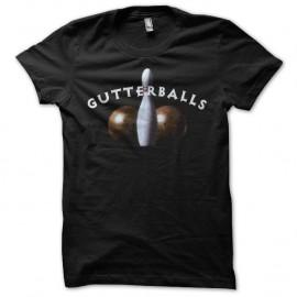 le fameux Shirt Gutterballs de Big Lebowsky noir pour homme et femme