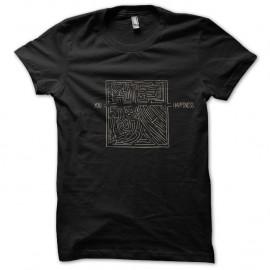 Shirt you happiness Humoristique noir pour homme et femme