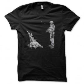 Shirt Banksy Ange soldat artiste Shirt street art noir pour homme et femme