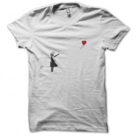 Shirt Banksy Petite fille coeur artiste Shirt street art Blanc pour homme et femme