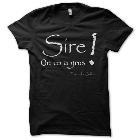 Shirt Kaamelott Perceval Sire on en a gros noir pour homme et femme