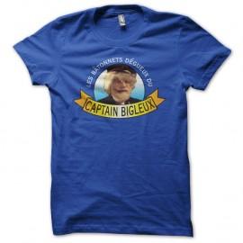 Shirt Les Nuls Captain Bigleux bleu pour homme et femme