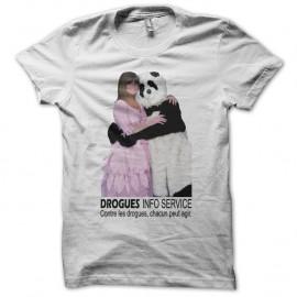 Shirt Chantal Goya Drogues Info Service blanc pour homme et femme