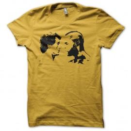 Shirt Rocky vs Mr T noir/jaune pour homme et femme