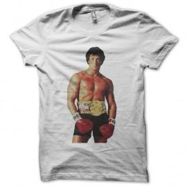 Shirt Rocky ready to boxe blanc pour homme et femme
