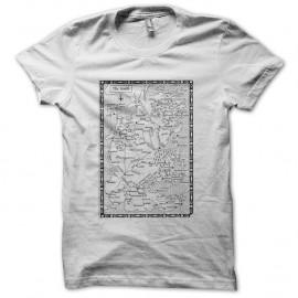 Shirt carte du Mordor seigneur des anneaux blanc pour homme et femme