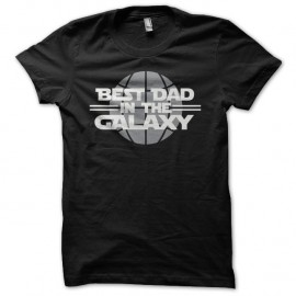 Shirt Best Dad in the Galaxy parodie Star Wars noir pour homme et femme