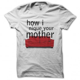 Shirt How I met your mother parodie blanc pour homme et femme