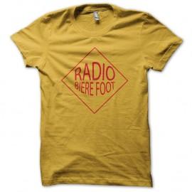 Shirt radio biere foot robin des bois jaune pour homme et femme