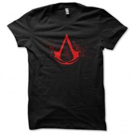 Shirt Assassins Creed red logo noir pour homme et femme